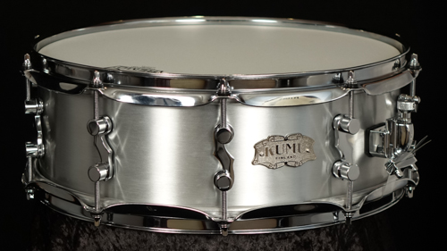 "KUMU Brushed Aluminum snare drum 14"" x 5"""