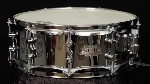 "KUMU Chrome Over Brass snare drum 14"" x 5"""