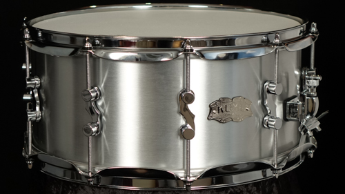 "KUMU Brushed Aluminum snare drum 14"" x 6,5"""